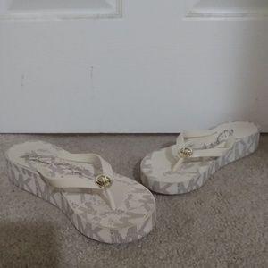 Women's Michael Kors Wedge Flip Flops Size 8